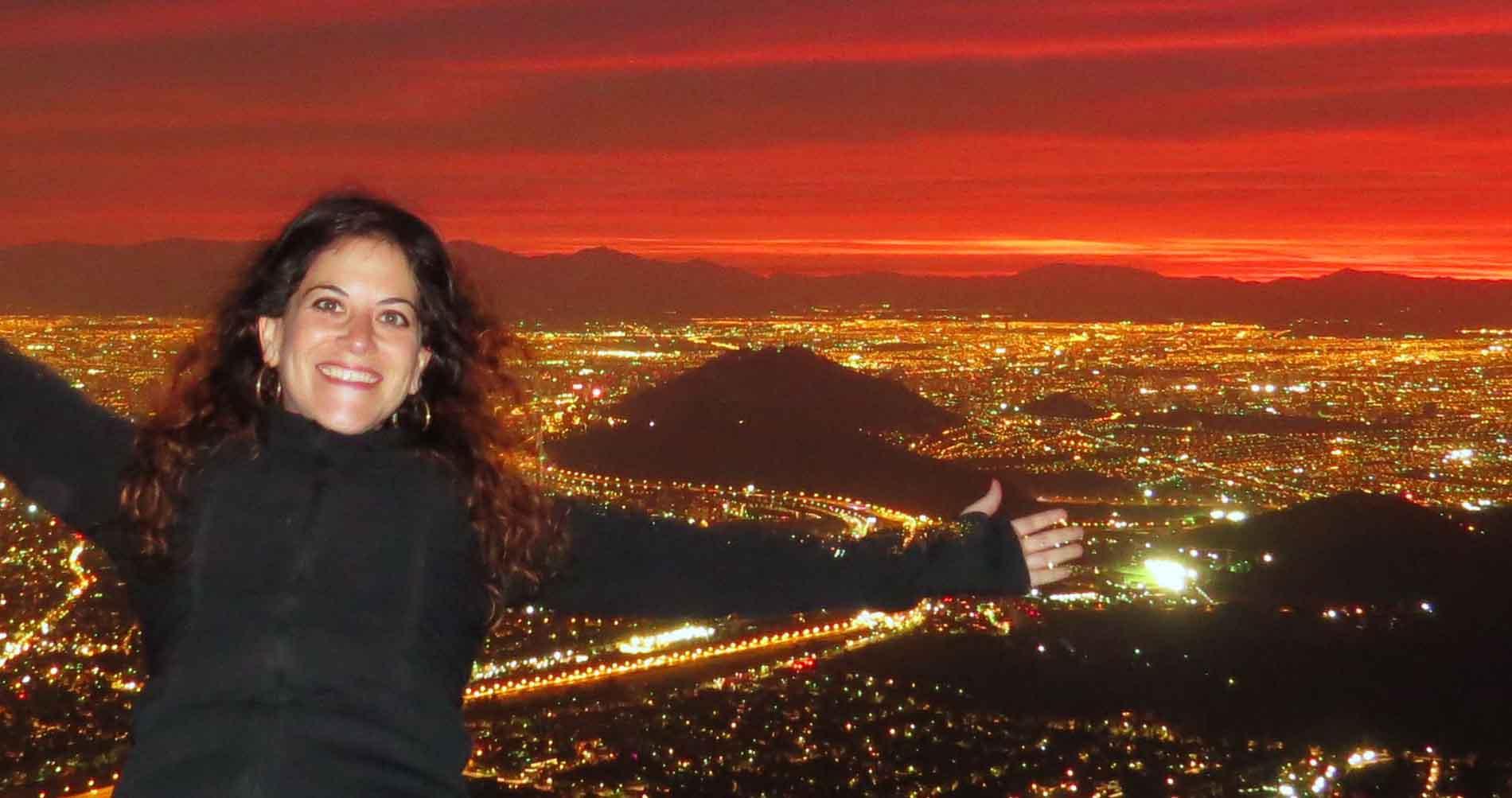 Med Gloria til topps i Santiago