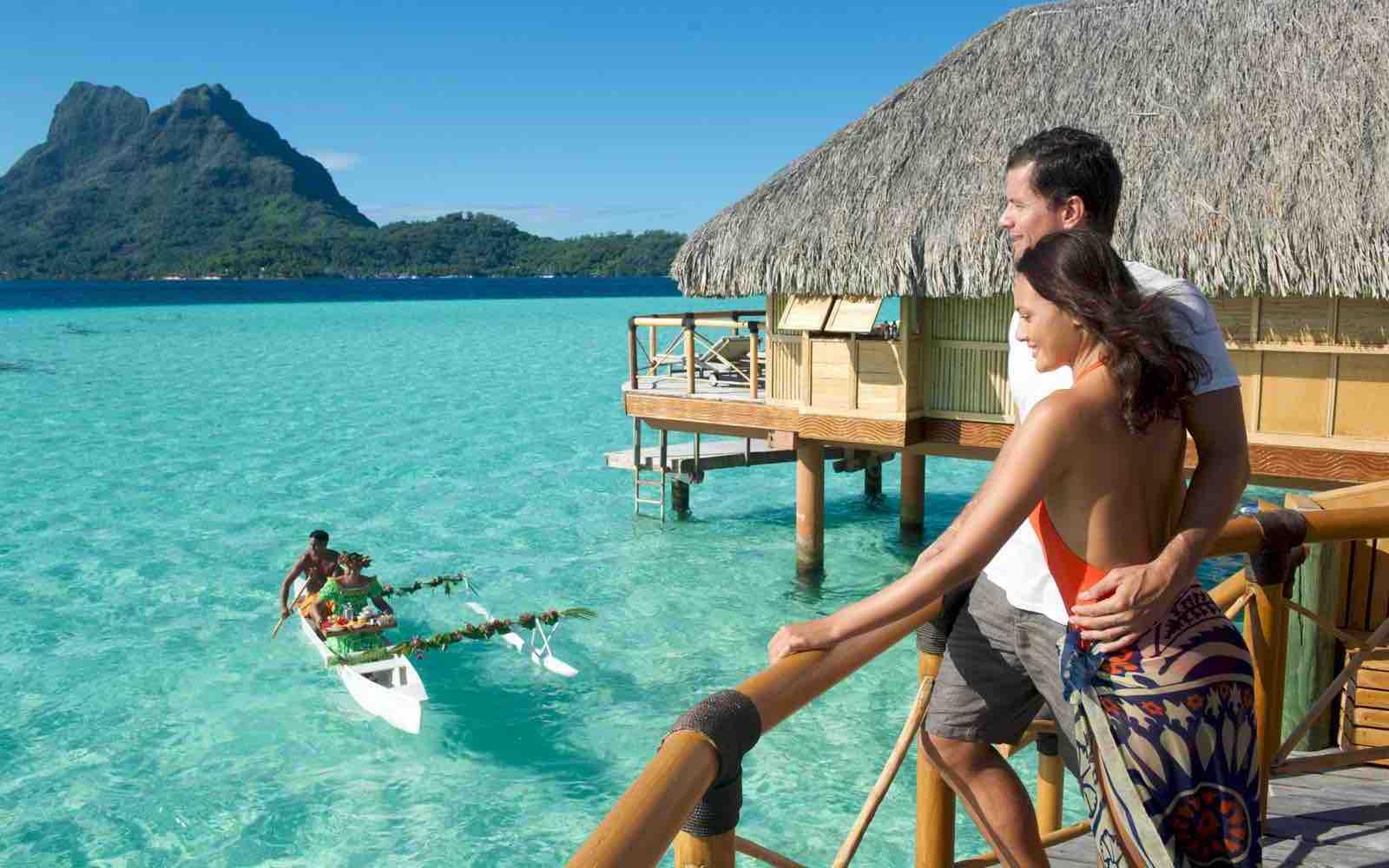 Eksotiske øyer skapt for romantisk ferie på påler