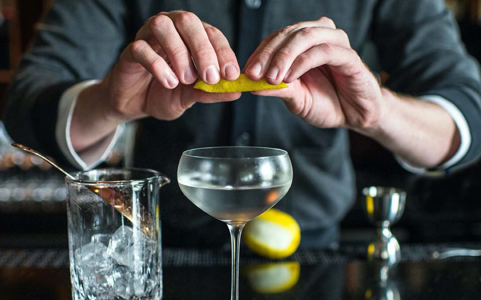 En klassisk Dry Martini cocktail