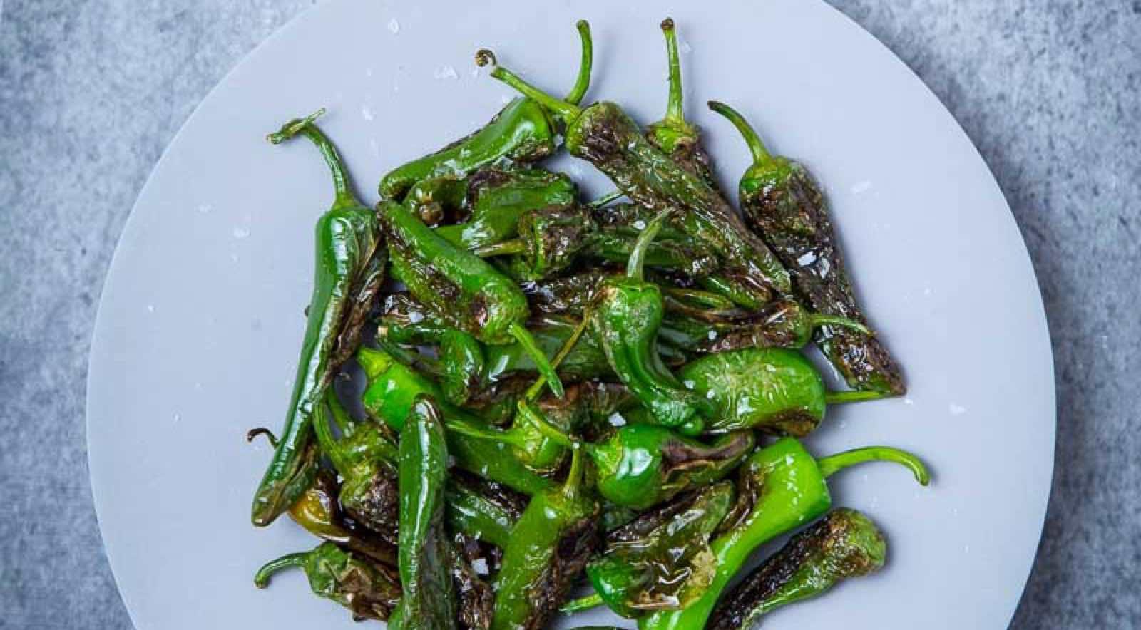 Grønn paprika: Pimientos de Padrón er små paprika som kommer fra Galicia