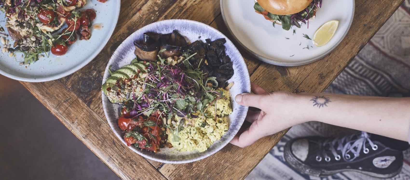 Dette serveres på stedet med det uvanlige navnet We Are Vegan Everything, London, UK