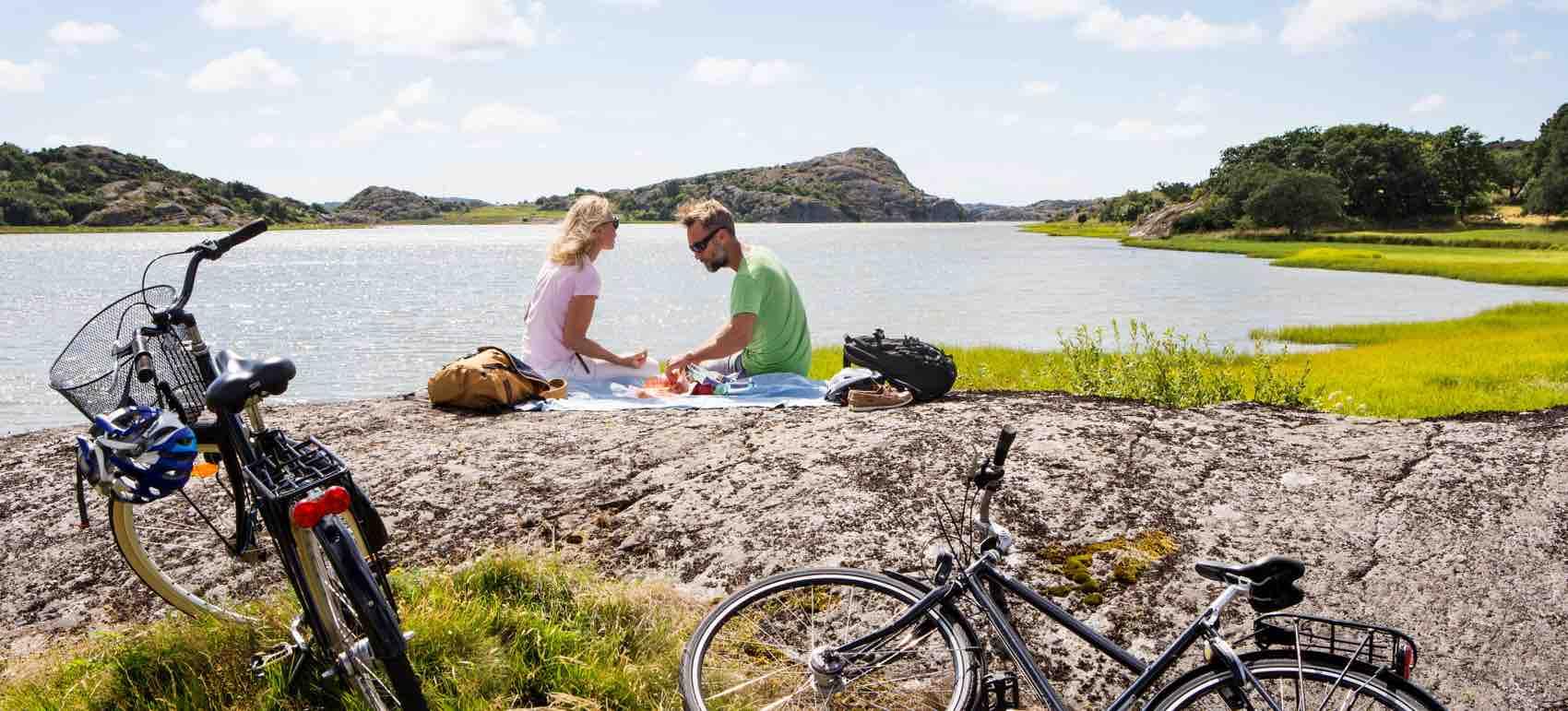 På sykkel langs Vestkysten og på øyene er også en mulighet