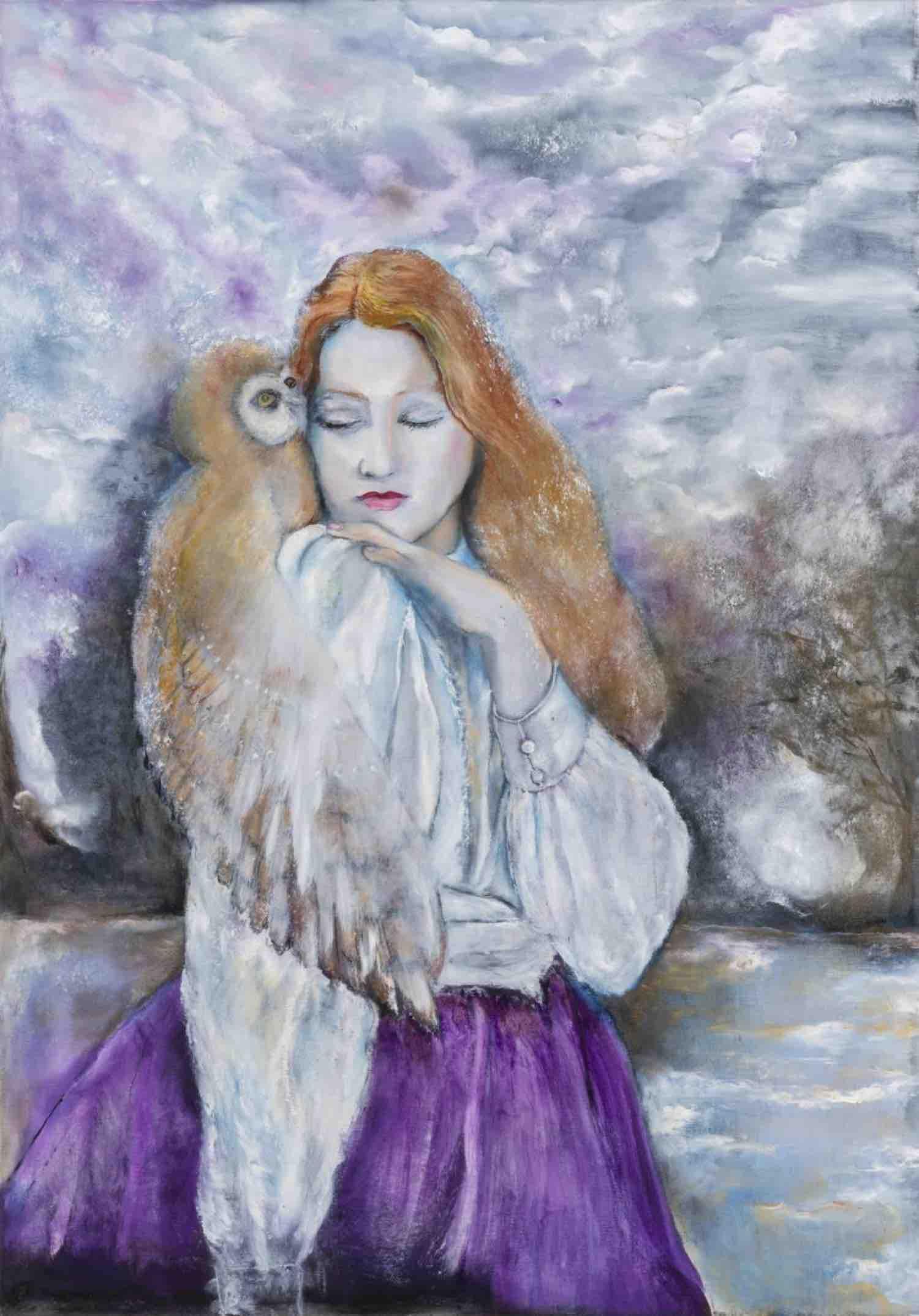 """Dette nye maleriet av Therese Nortvedt har tittel """"The Ornithologist II"""" (130x91cm) olje på lerret"""