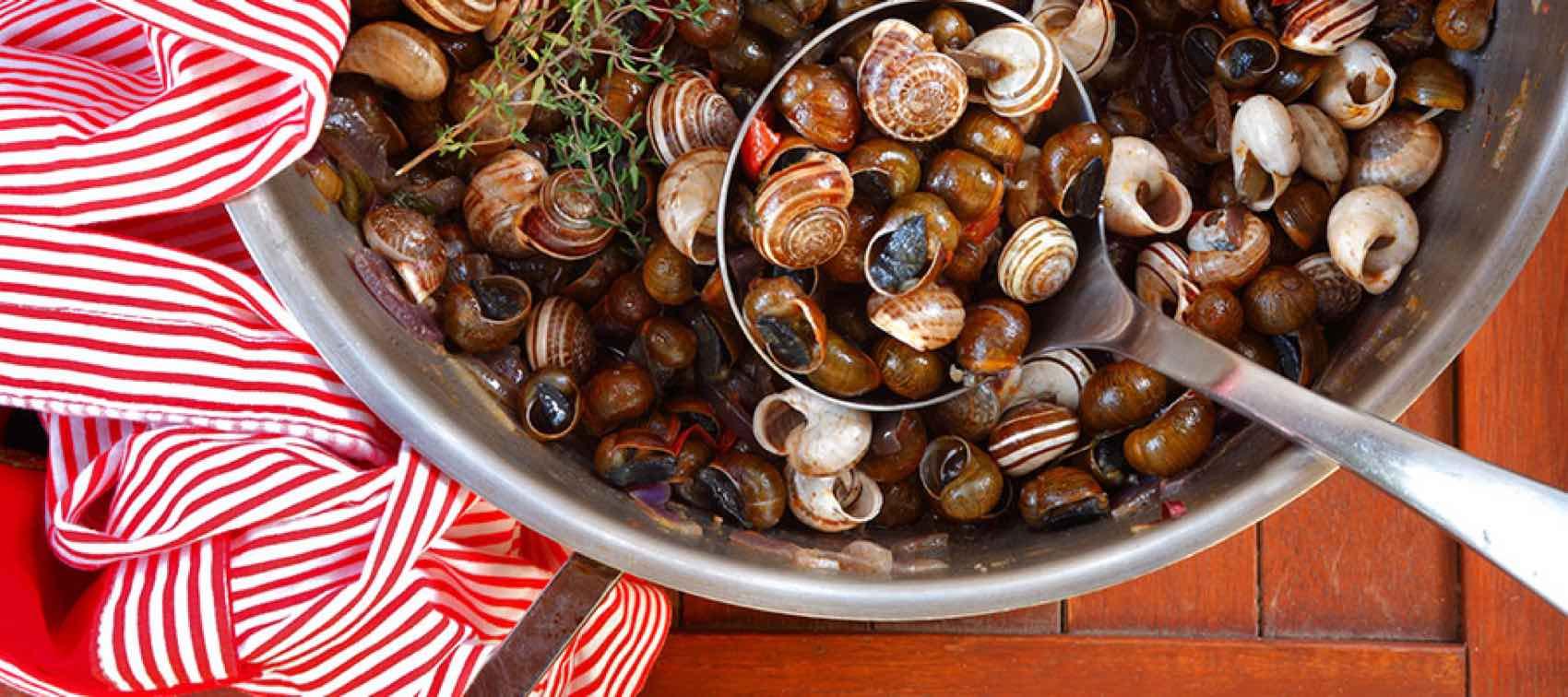 Snegler - eller escargot - er en spesialitet på Mallorca.